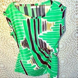 NEW YORK & COMPANY Colorful Blouse Sz. L